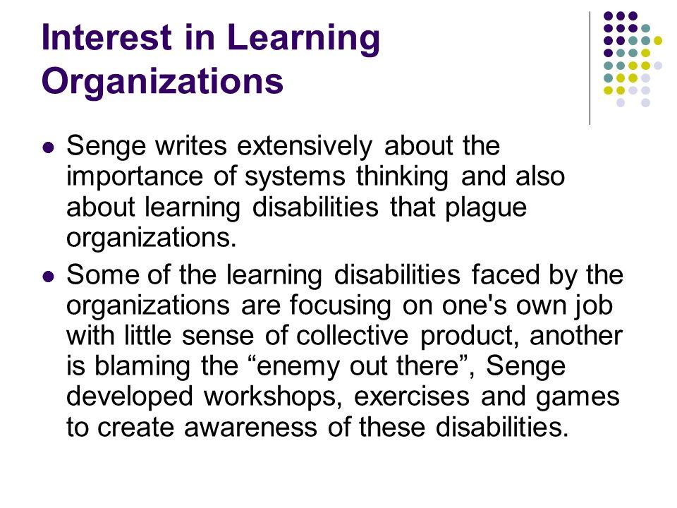 Interest in Learning Organizations