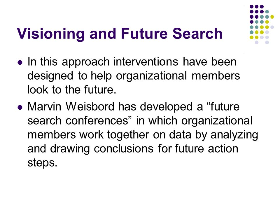 Visioning and Future Search