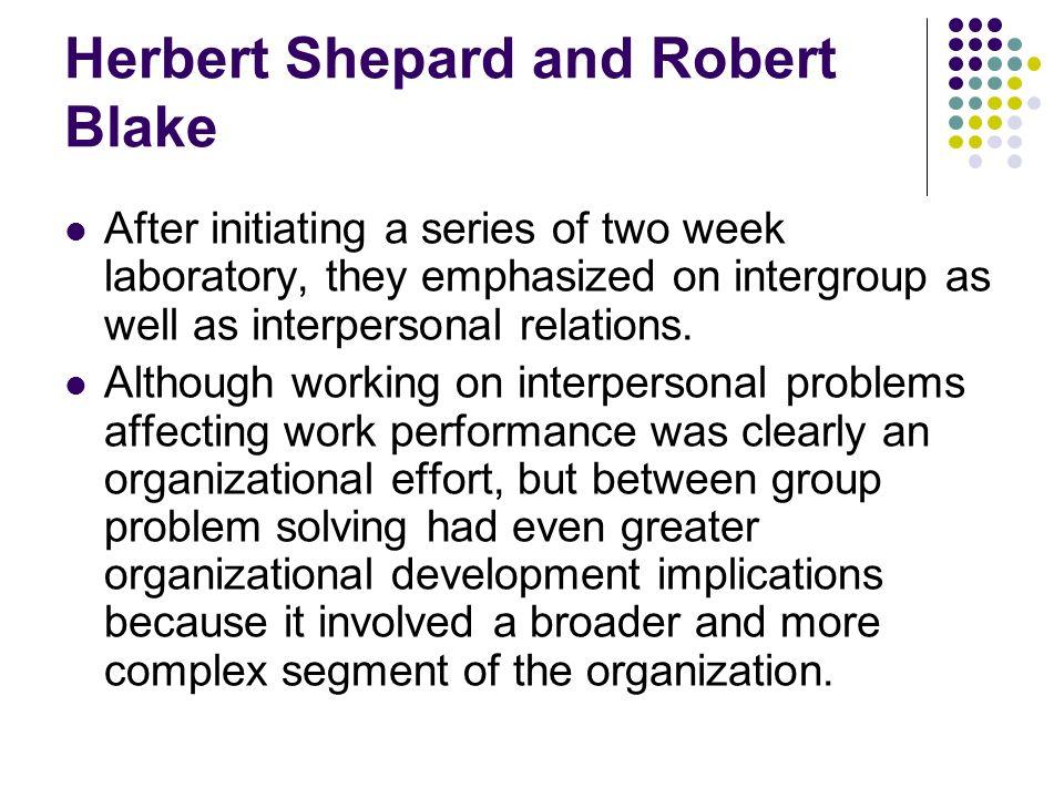 Herbert Shepard and Robert Blake
