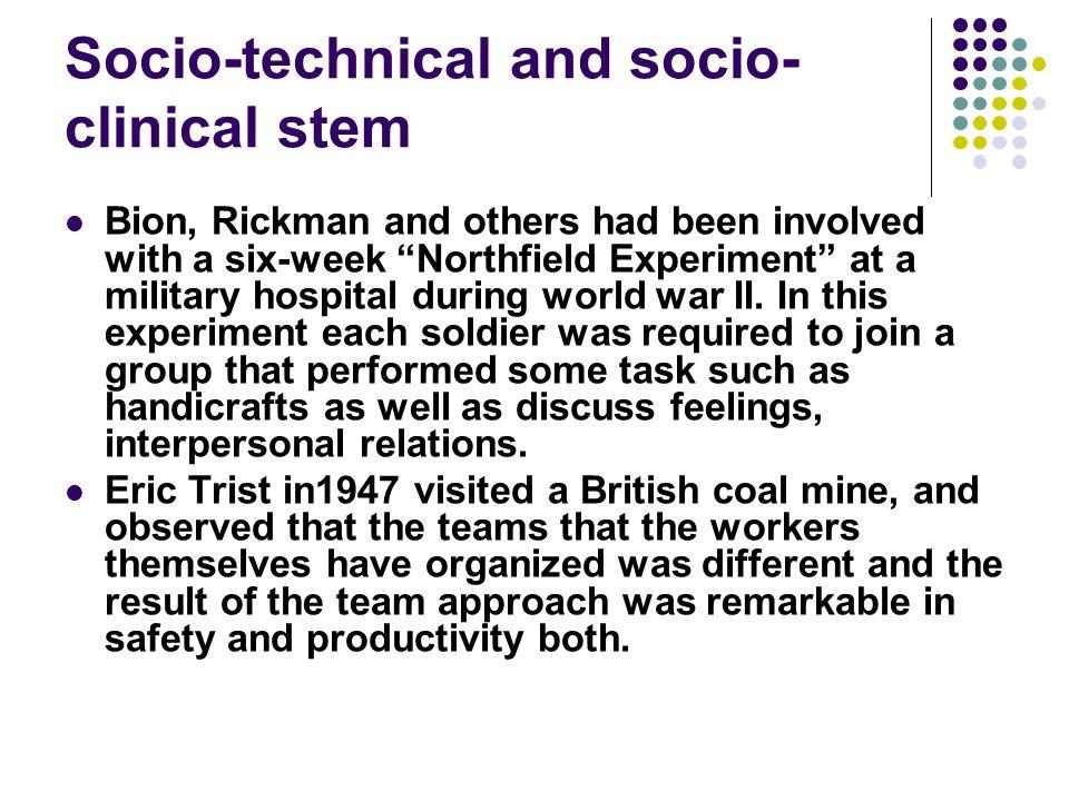 Socio-technical and socio-clinical stem