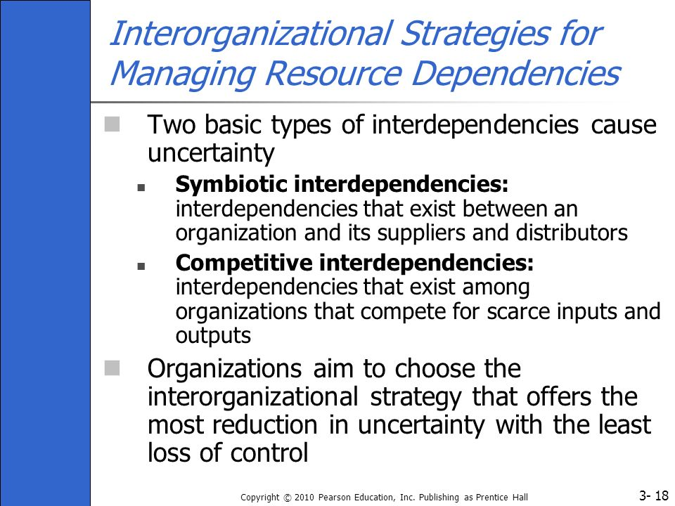 Interorganizational Strategies for Managing Resource Dependencies
