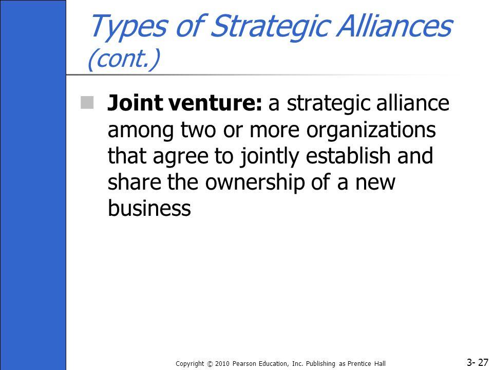 Types of Strategic Alliances (cont.)