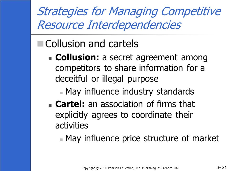 Strategies for Managing Competitive Resource Interdependencies