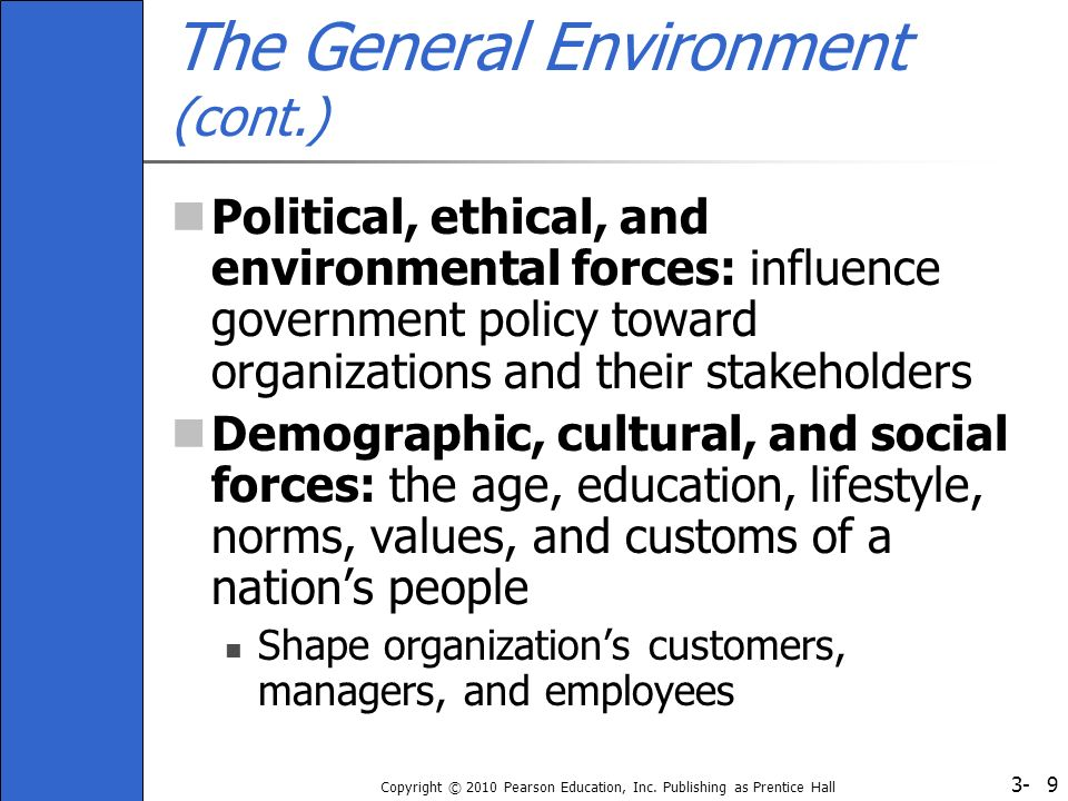 The General Environment (cont.)