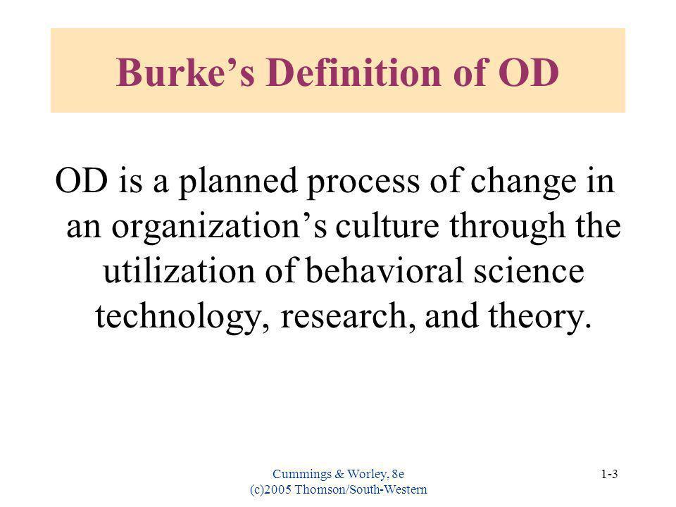 Burke's Definition of OD