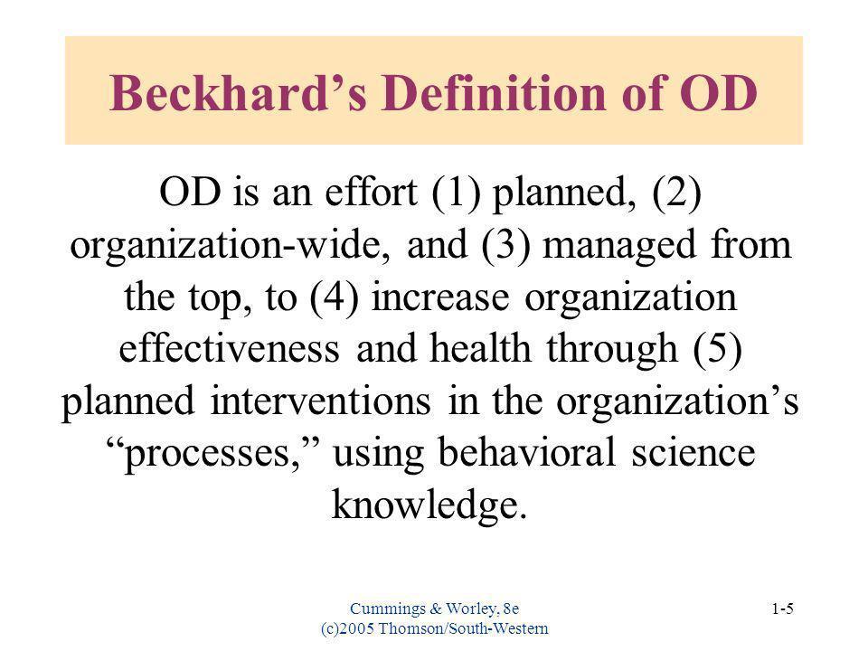 Beckhard's Definition of OD