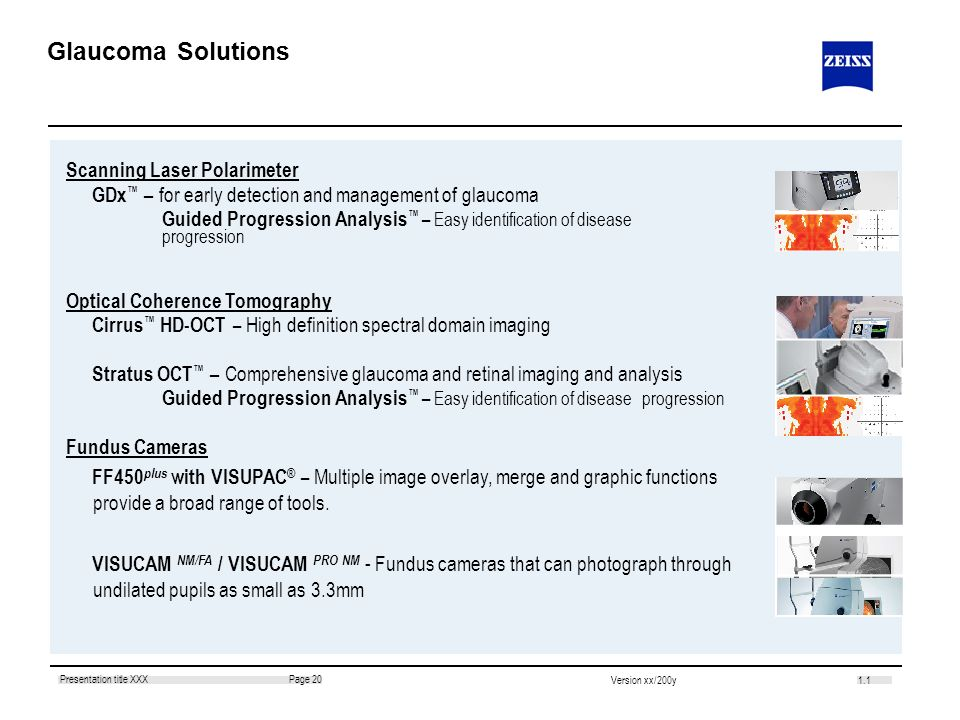 Glaucoma Solutions Scanning Laser Polarimeter