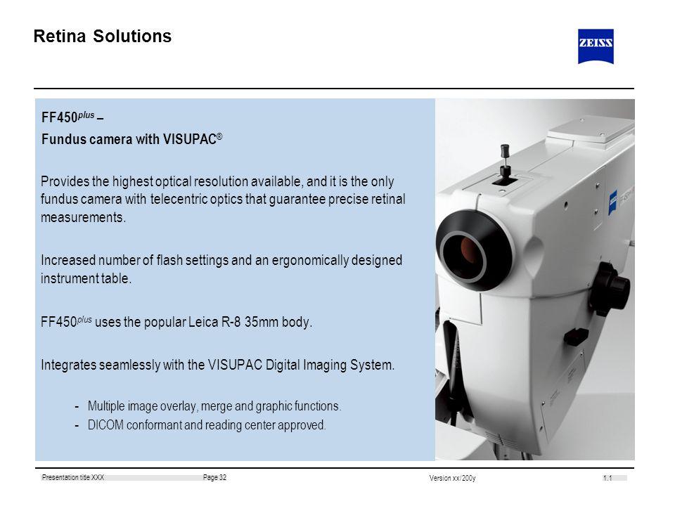 Retina Solutions FF450plus – Fundus camera with VISUPAC®