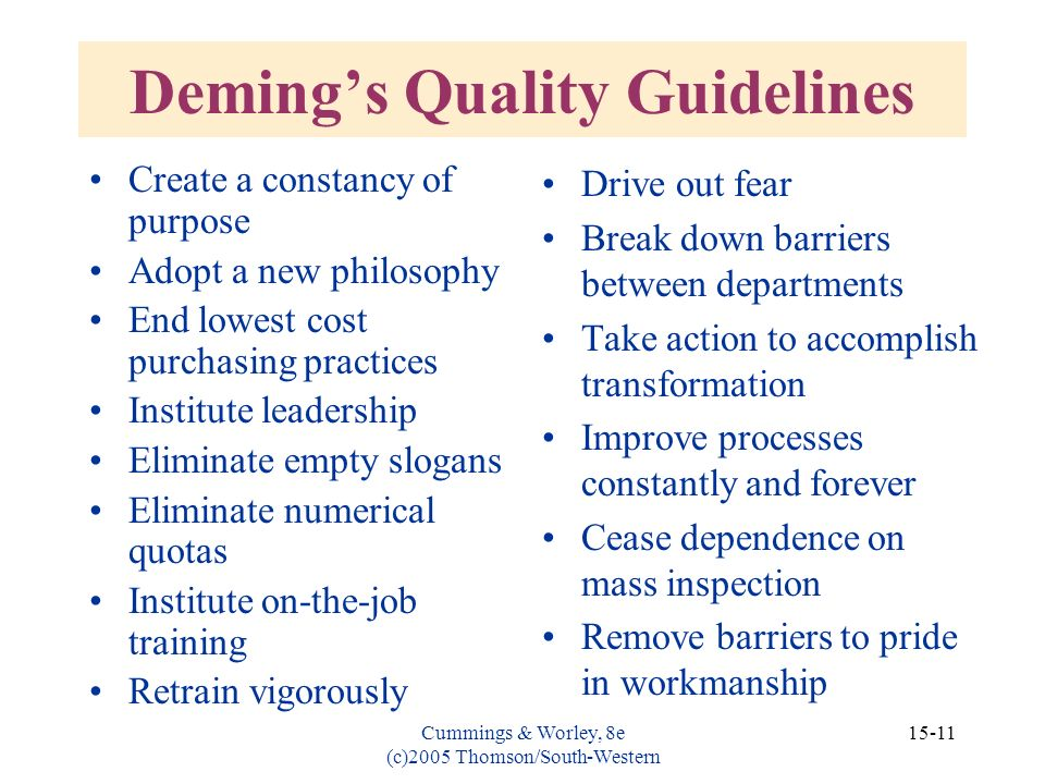 Deming's Quality Guidelines