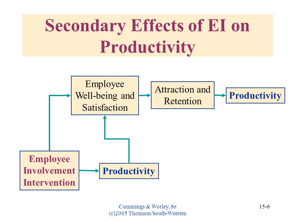 Secondary Effects of EI on Productivity