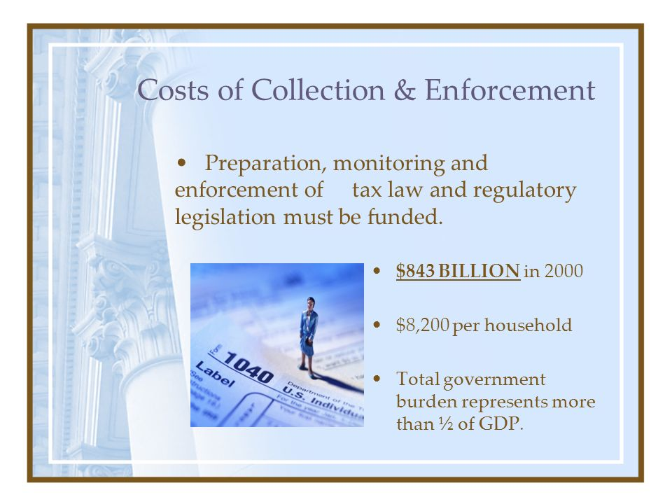 Costs of Collection & Enforcement