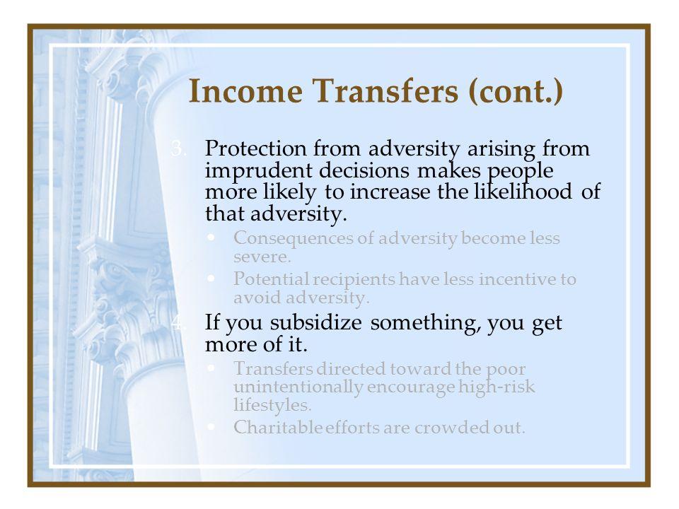 Income Transfers (cont.)