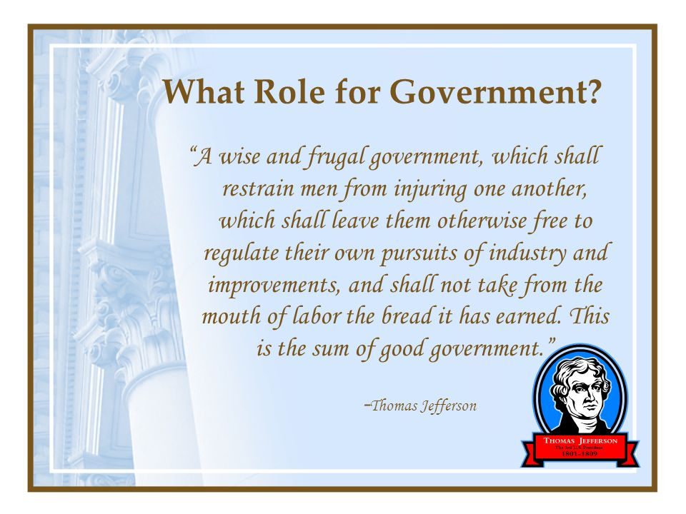 What Role for Government