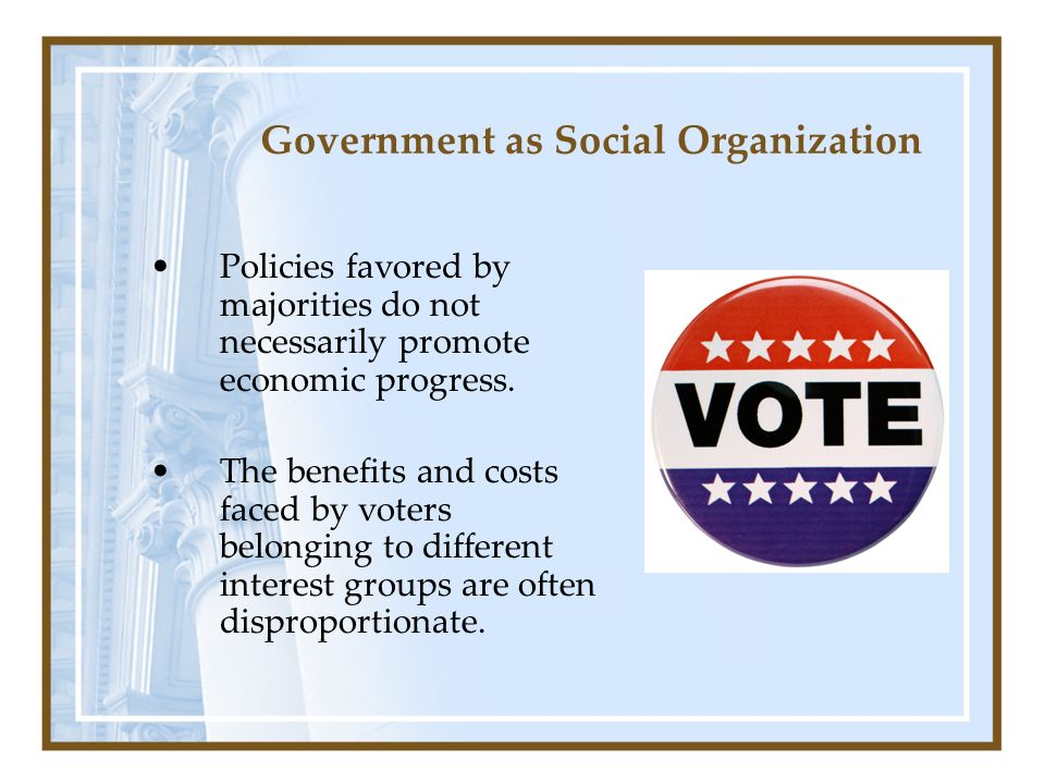 Government as Social Organization