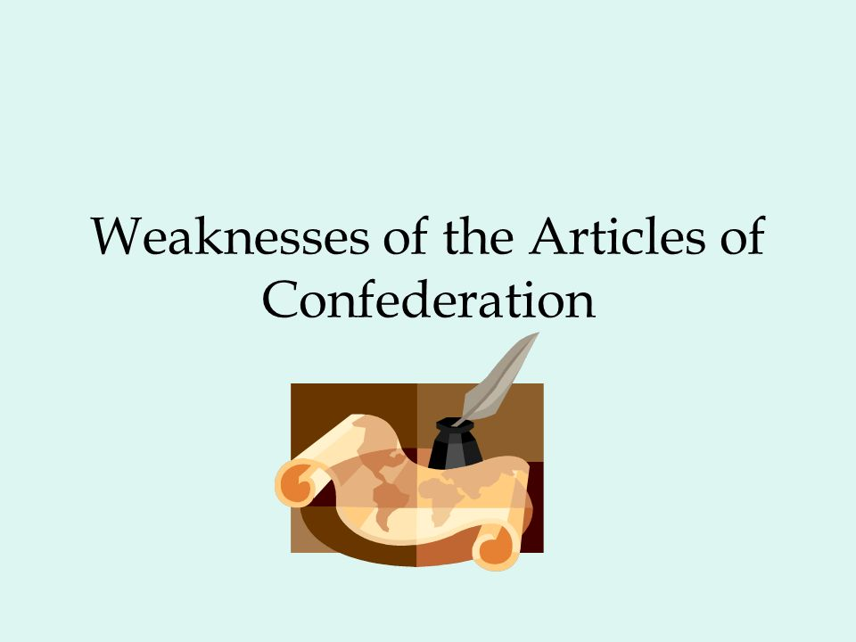 an essay on the articles of confederation