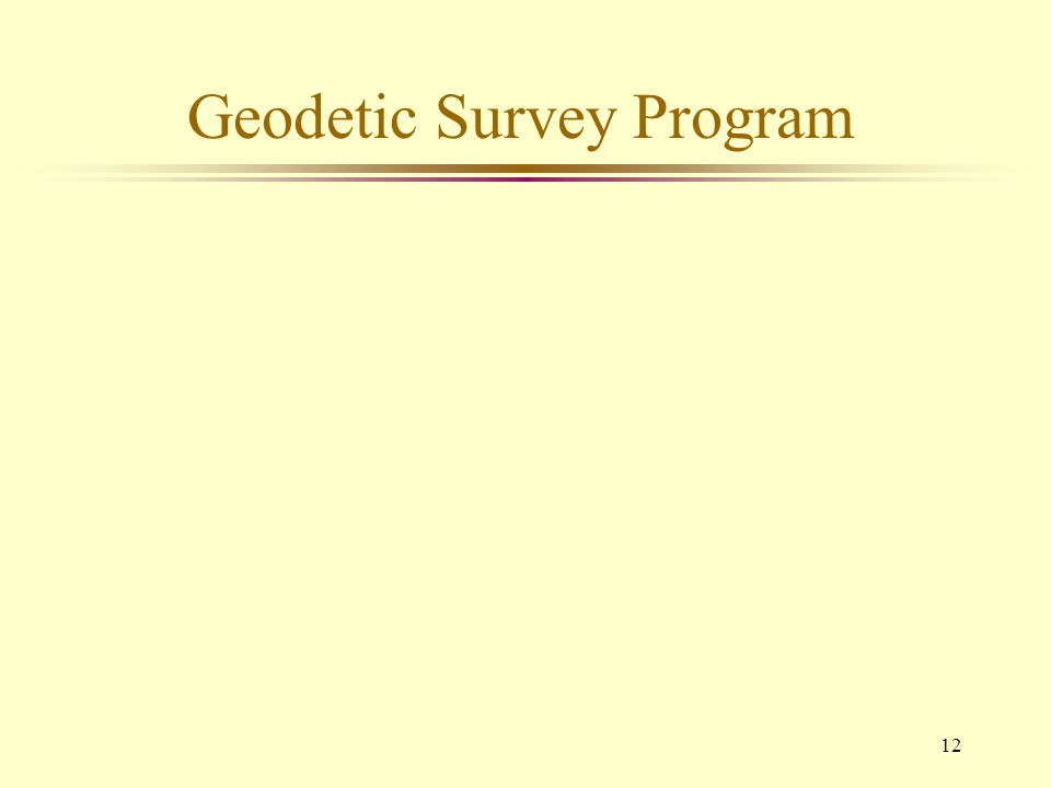 Geodetic Survey Program