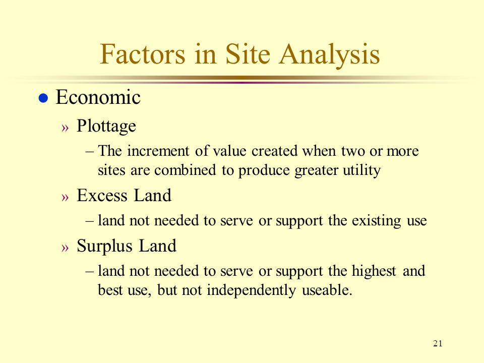Factors in Site Analysis