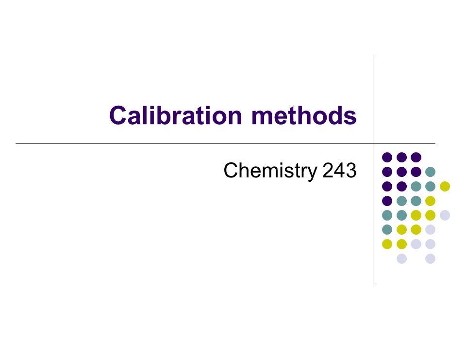 Calibration methods Chemistry 243