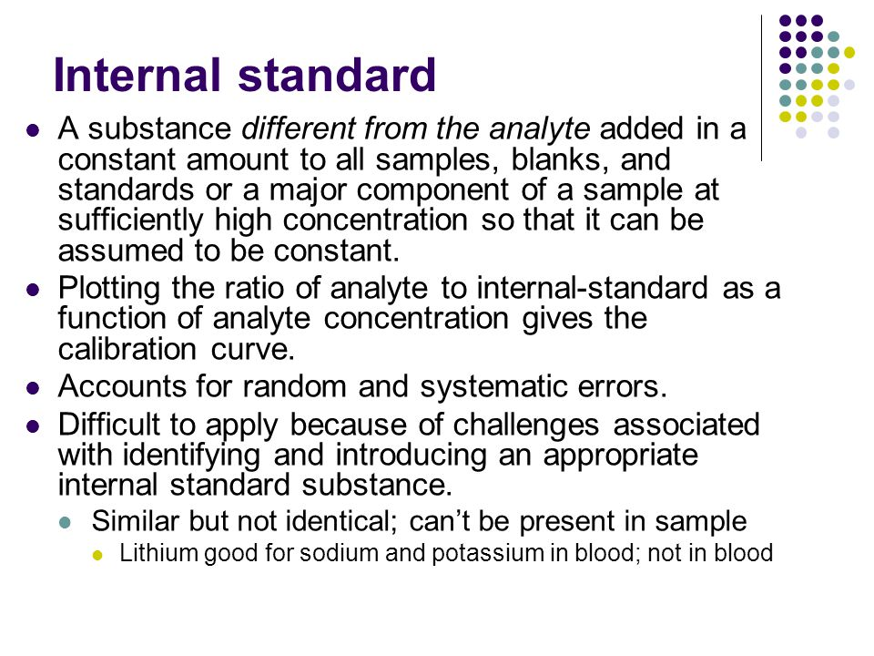 Internal standard
