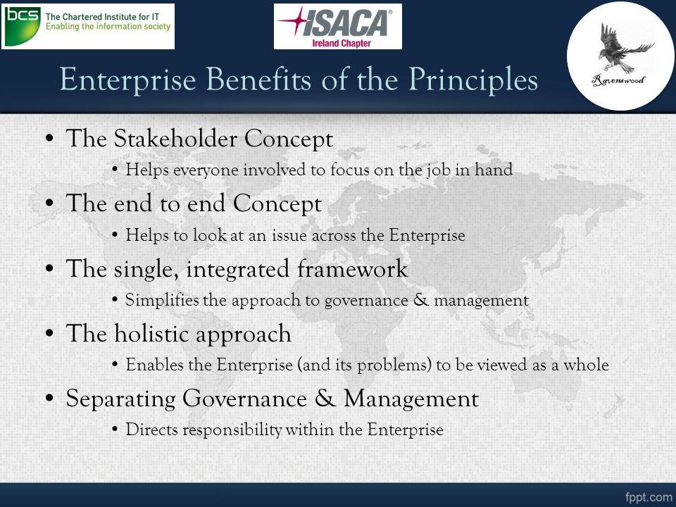 Enterprise Benefits of the Principles