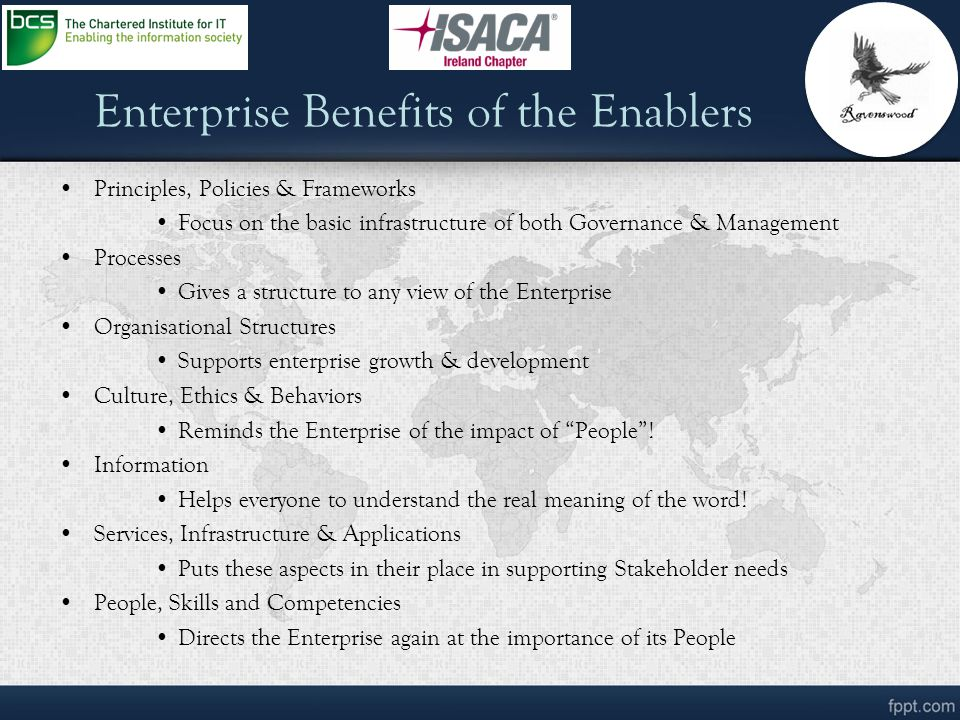 Enterprise Benefits of the Enablers