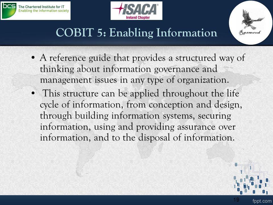 COBIT 5: Enabling Information