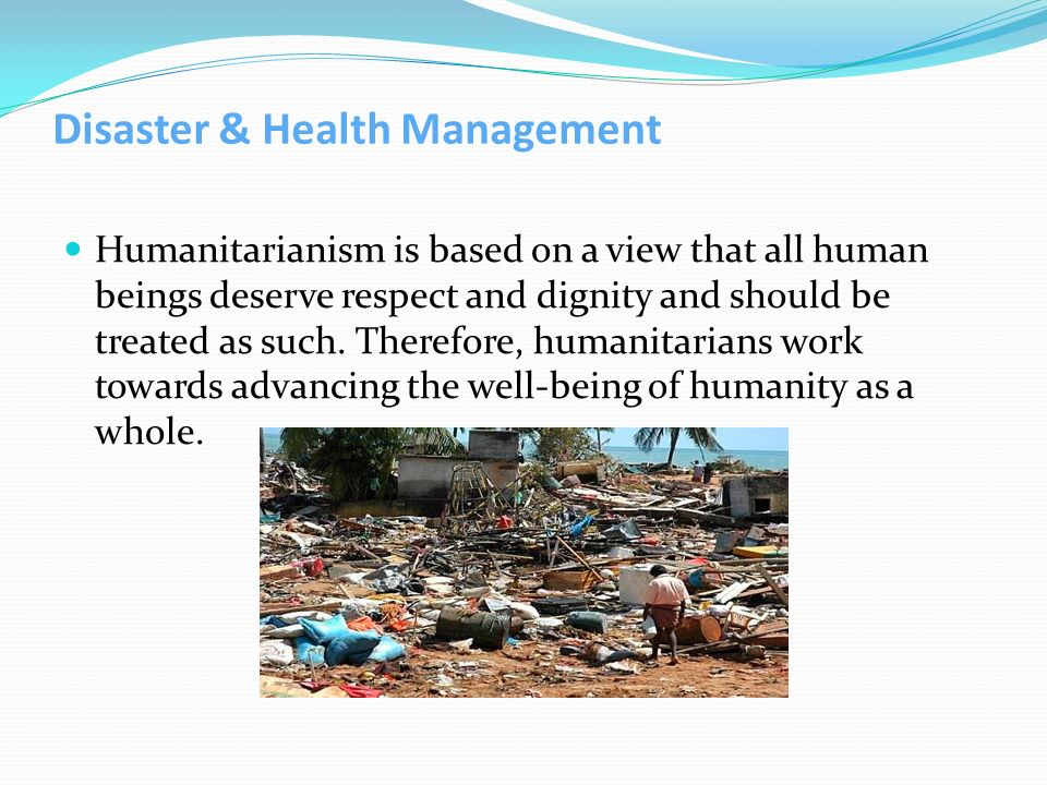 Disaster & Health Management