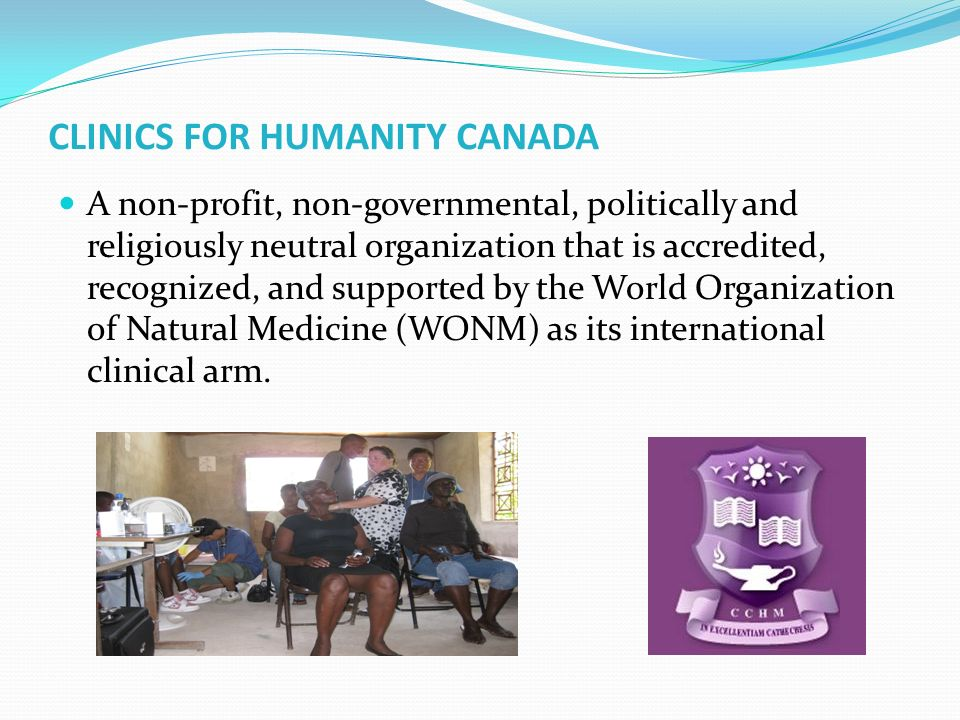CLINICS FOR HUMANITY CANADA