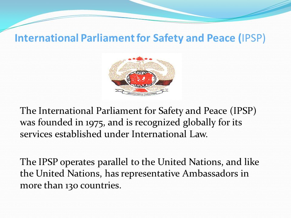International Parliament for Safety and Peace (IPSP)