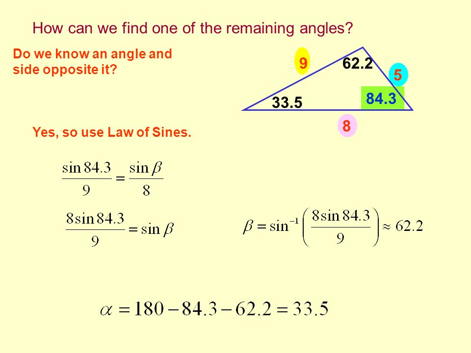 How can we find one of the remaining angles