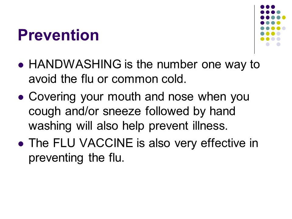 how to avoid the flu without a shot