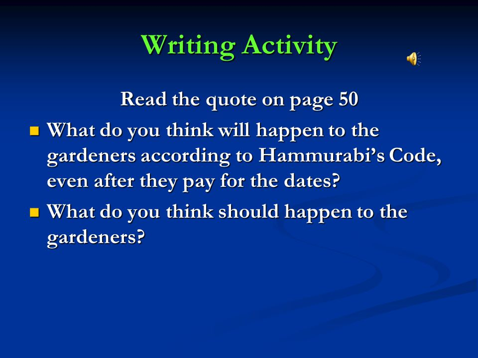 Writing Activity Read the quote on page 50