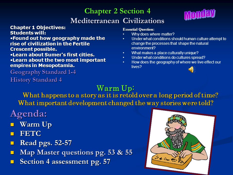 Chapter 2 Section 4 Mediterranean Civilizations
