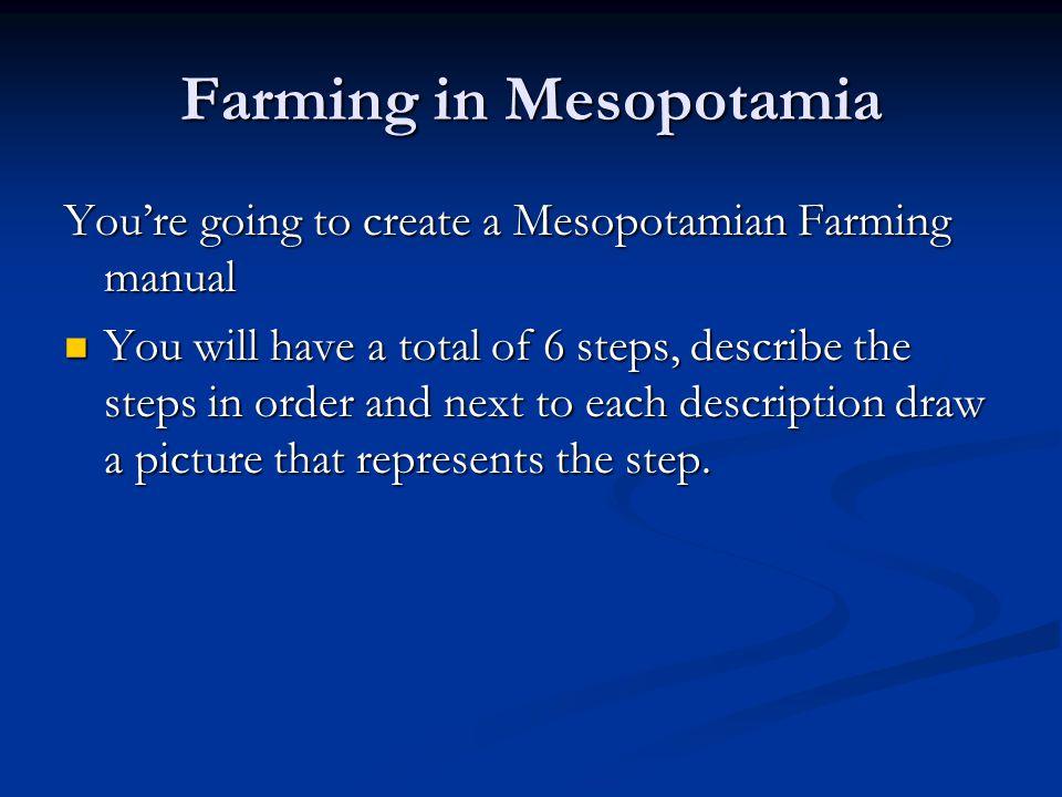 Farming in Mesopotamia