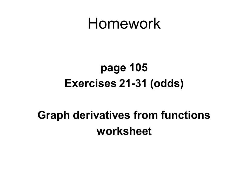 Graph derivatives from functions