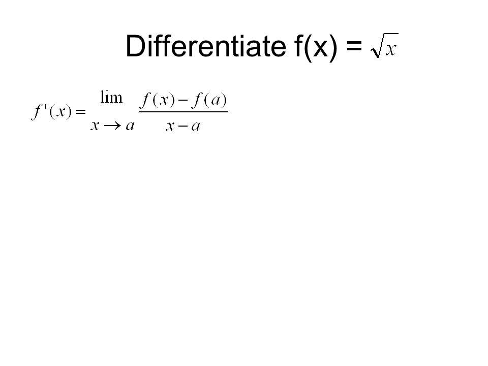 Differentiate f(x) =