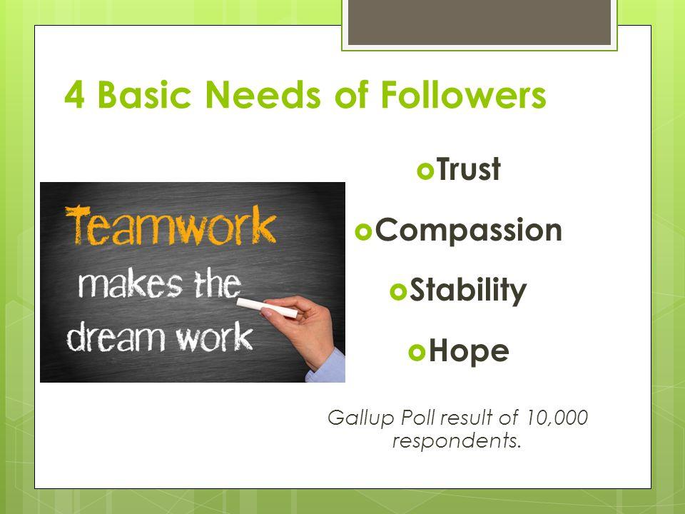4 Basic Needs of Followers