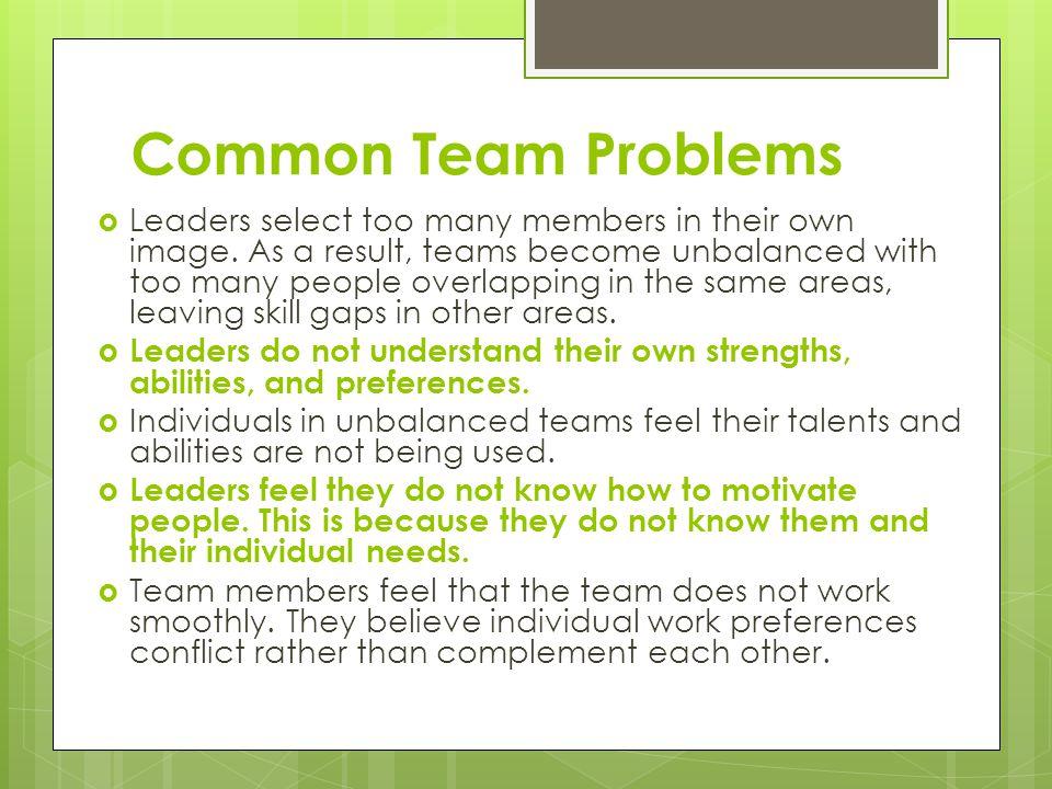 Common Team Problems