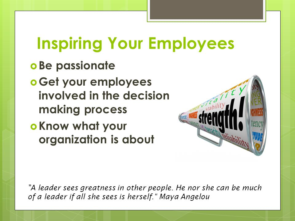 Inspiring Your Employees