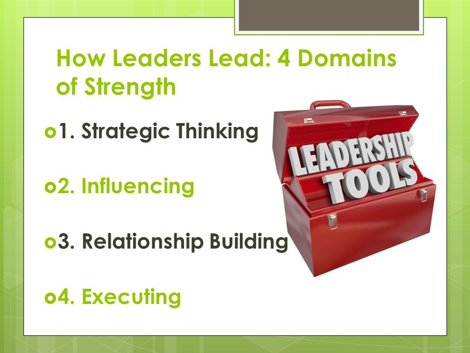 How Leaders Lead: 4 Domains of Strength