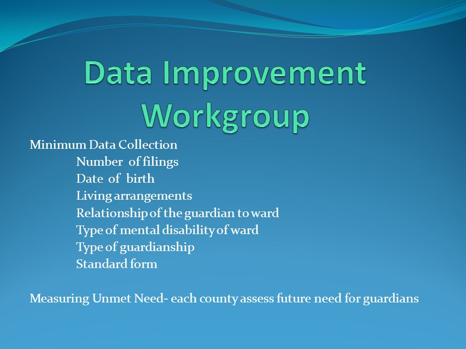 Data Improvement Workgroup
