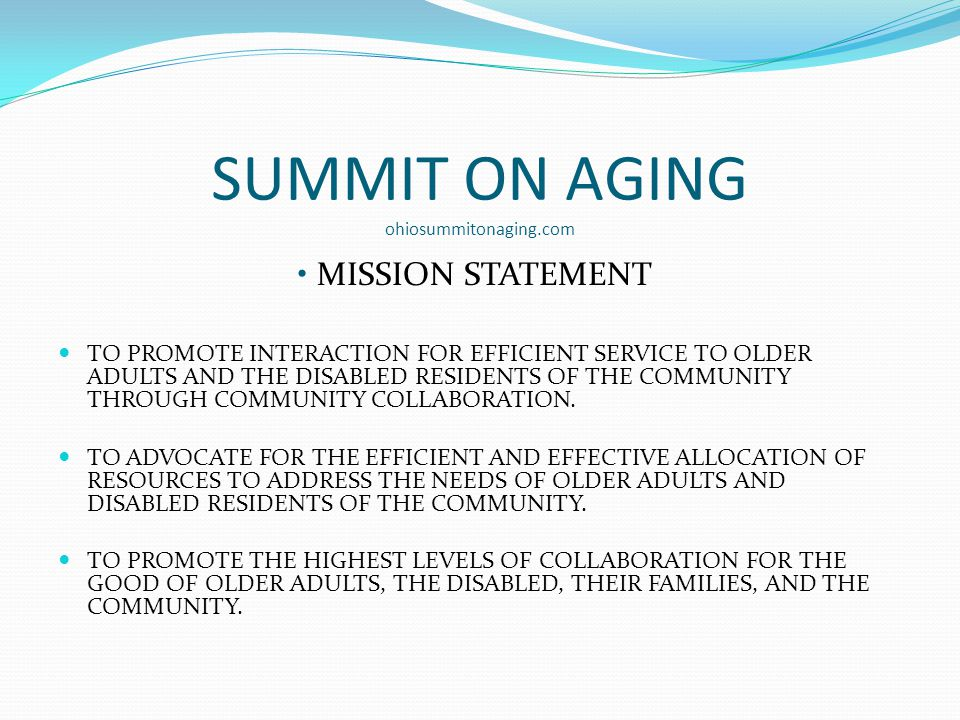 SUMMIT ON AGING ohiosummitonaging.com