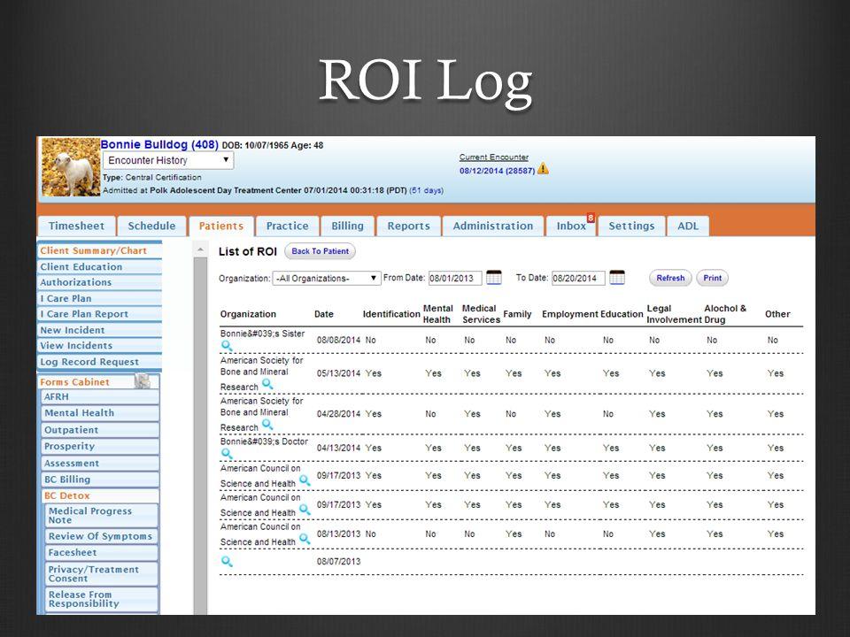 ROI Log