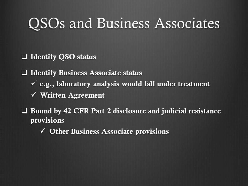 QSOs and Business Associates