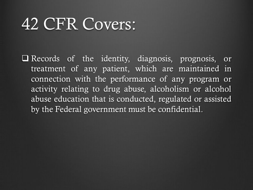 42 CFR Covers: