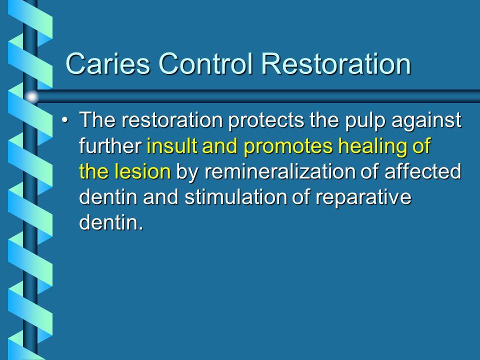 Caries Control Restoration