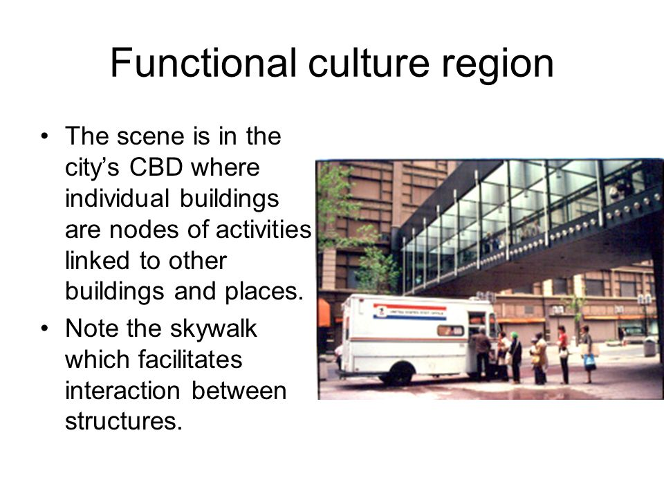 Functional culture region