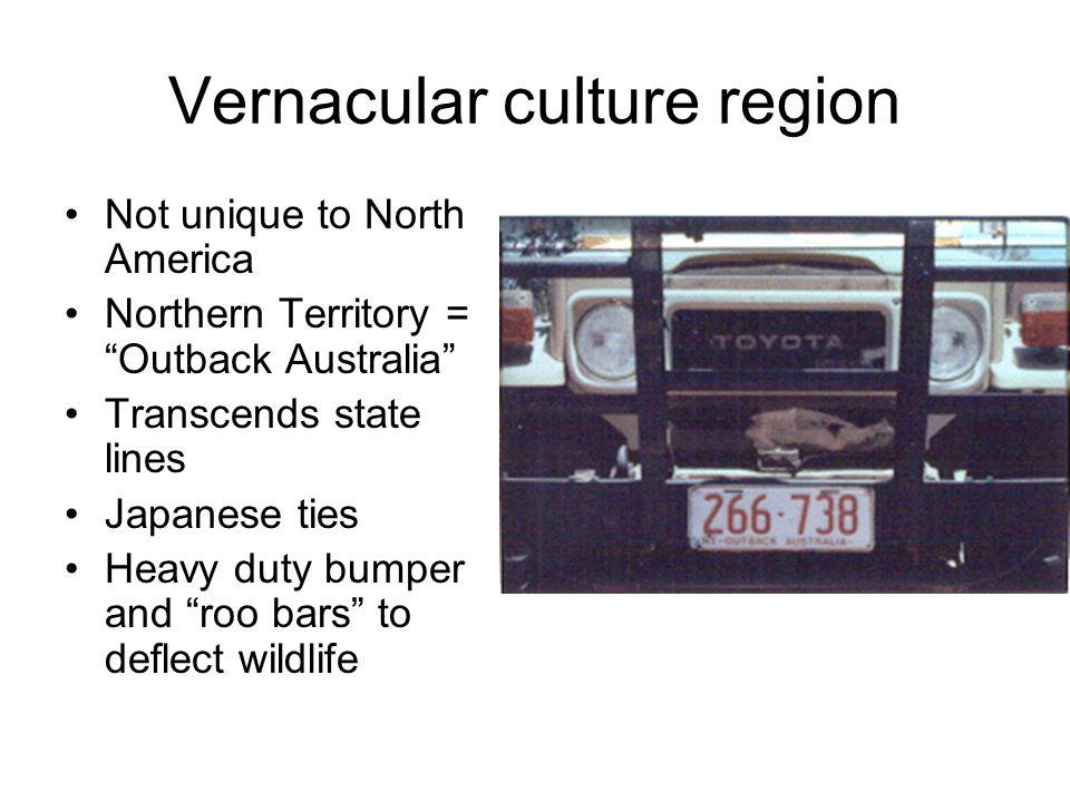 Vernacular culture region