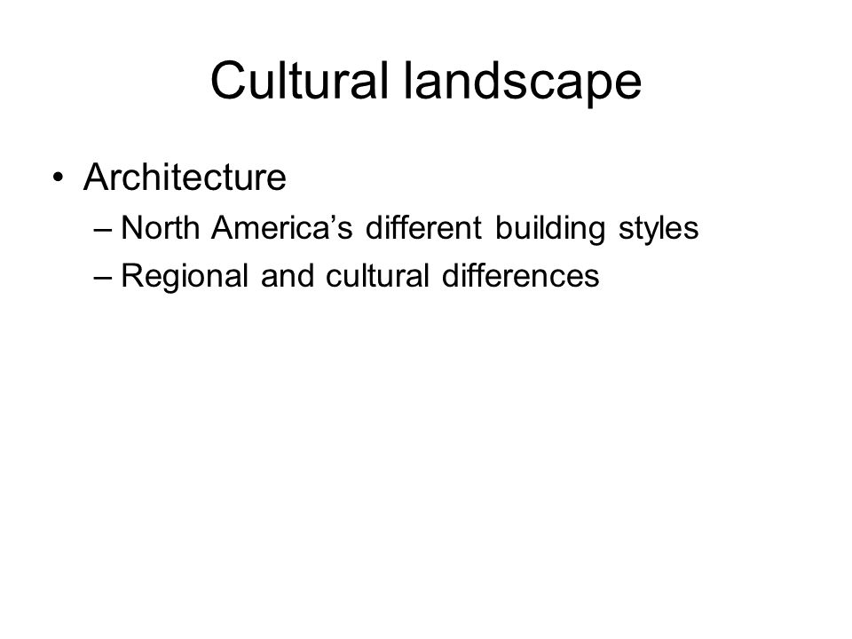 Cultural landscape Architecture