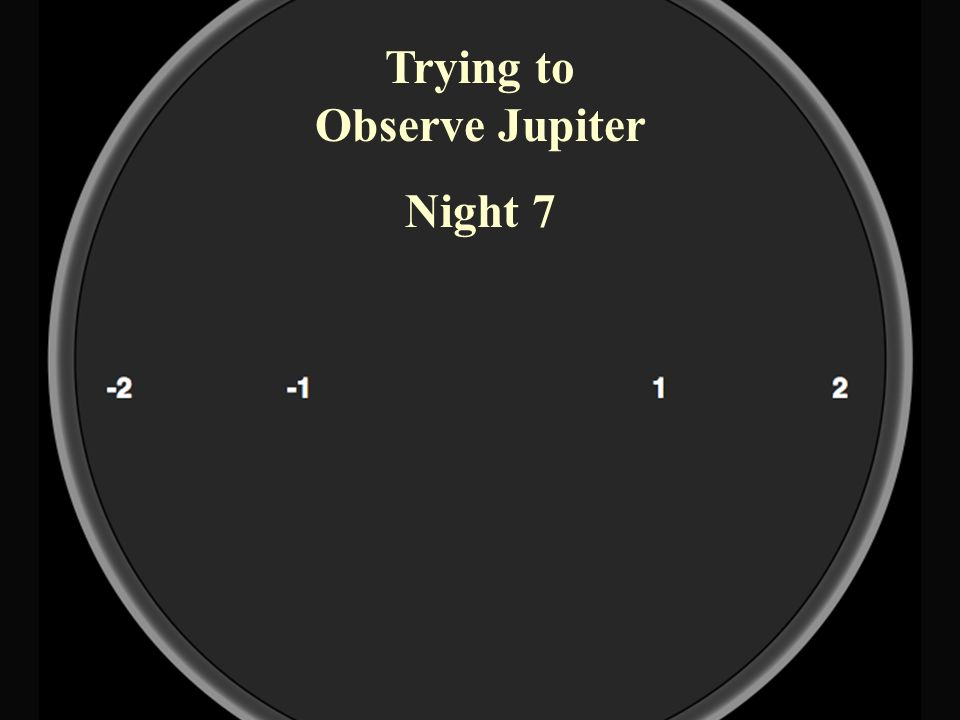 Trying to Observe Jupiter